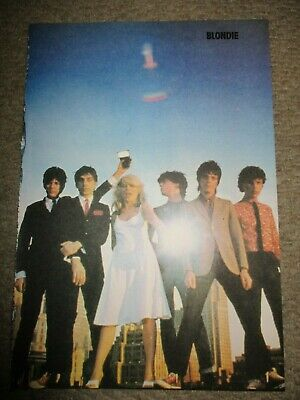 Vintage UK Blondie Poster Clippings Debbie Harry