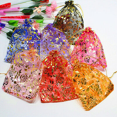 120sytles ORGANZA GIFT BAG Candy Sheer Jewellery Pouch Wedding Birthday PaEBAU