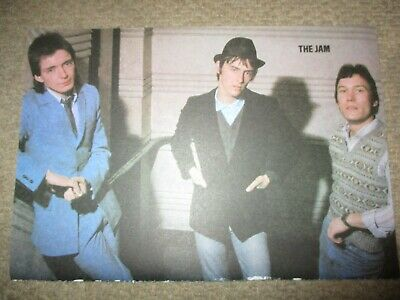 Vintage UK The Jam Poster Clippings Paul Weller Bruce Foxton Rick Buckler