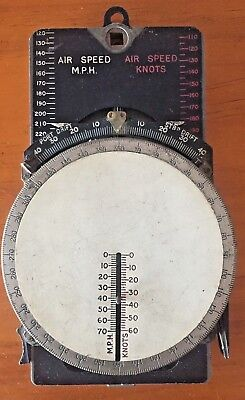 Wwii Aircraft Course & Speed Calculator Mk 2A Bomber Fighter Vintage Airplane