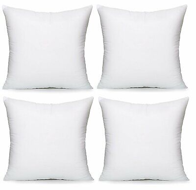 Pack of 4 Extra Deep Filled 16x16 Inches Cushion Pads Inserts Fillers Inners