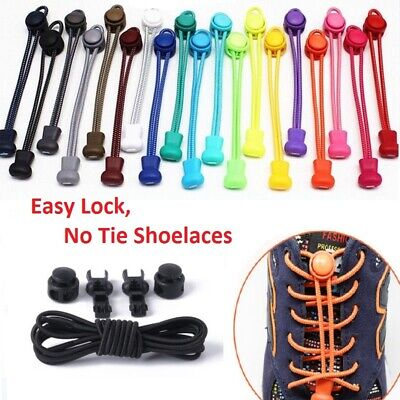 No Tie Shoe Laces Elastic Easy Lock Lace System Sport Shoelaces Runner Trainer