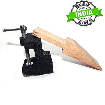 Combination Bench Pin And Anvil for Jewellers Jewellery Making & Crafts Hardwood
