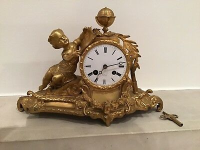Genuine Antique French Mantel Clock by Henry Marc (c1855)