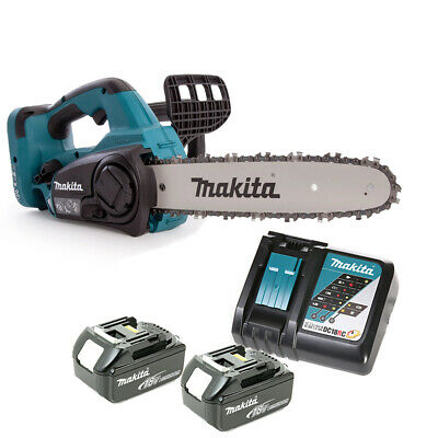 Makita DUC302 18V Twin Chainsaw 300mm With 2 x 3Ah Batteries & DC18RC Charger