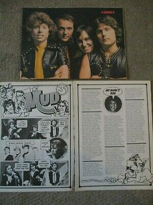 Vintage Mud Poster Clippings Les Gray Rod Davis Dave Mount Ray Stiles Andy Ball