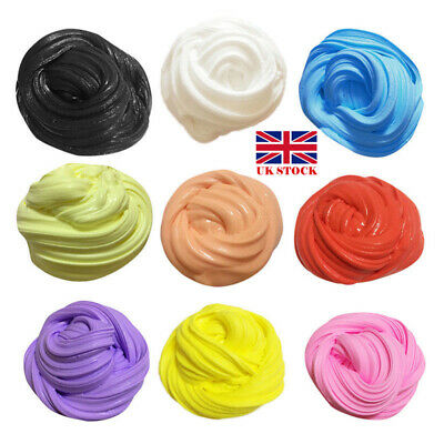 Fluffy Floam Slime Putty Scented Stress Relief No Borax Clay Kids Toy UK