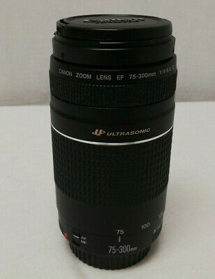 Canon EF 75-300mm III F4-5.6 Ultrasonic (USM) Zoom Lens With Caps HY 85350