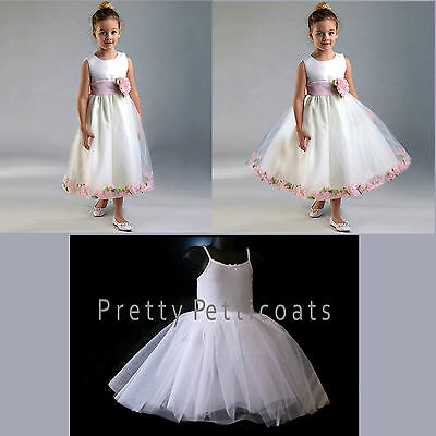 FLOWER GIRL CHILD STIFF NET PETTICOAT COMMUNION UNDERSKIRT for +++ fuller dress