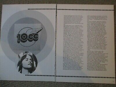 Vintage UK 10CC Clippings Graham Gouldman Lol Creme Kevin Godley Eric Stewart