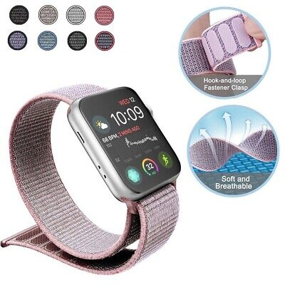 Nylon Replacement Band Strap Sport Loop Woven for Apple Watch Series 1 2 3 4 New