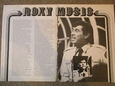 Vintage UK Roxy Music Clipping Bryan Ferry