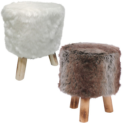 Amazing Fur Stool Footrest Footstool Seat Round Ottoman Pouffe Pouf Pdpeps Interior Chair Design Pdpepsorg