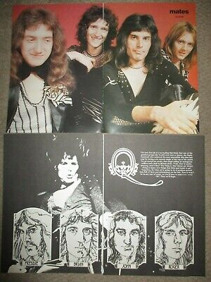 Vintage UK Queen Poster Clippings Freddie Mercury Brian May Roger Taylor