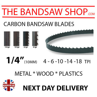 """1/4"""" (6mm) Wood Bandsaw blades any length to suit your machine"""