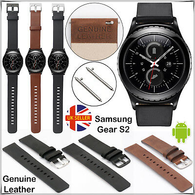 Genuine Leather Replacement Strap for Samsung Gear S2 Classic, Gear Sport 20mm