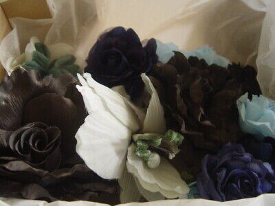 Silk Flower Assortment For Craft / Milinery - Gregory Ladner- Black & Blue