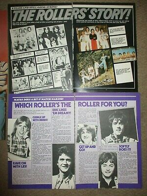 Vintage UK Bay City Rollers Poster Clippings