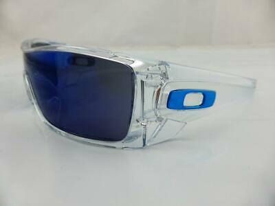Oakley BATWOLF Sunglasses Polished Clear - Ice Iridium Lens 9101-07