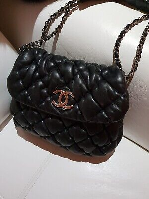 55ae933b48d4a3 Amazing Authentic Chanel Bubble Padded Puffy Quilted Leather Shoulder Bag  Handba