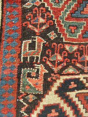 A Proper 100 Year Old Antique Country House Persian Kurdish Rug Kelleh Long Rug