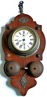House Clearance. Junghans Antique German Wall Mount Wooden Clock Rare