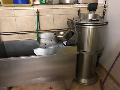 Potato Peeler,Chipper And Stainless Steel Container/tub.BOLD