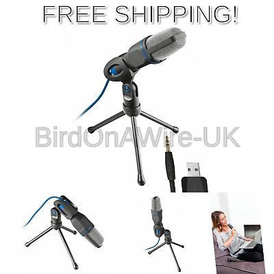Trust 20378 Mico USB Microphone and Stand for PC and Laptop, USB Connected Blue