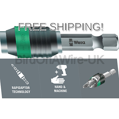 Wera 052502 Rapidaptor 889//4 Universal Quick Release Bit Holder 50mm
