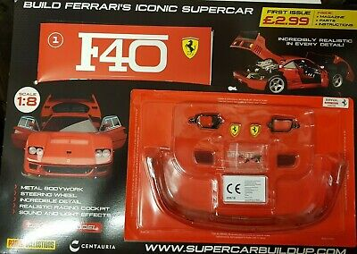 Build Ferrari's Iconic Supercar F40 = Die Cast 1:8 = First Issue = Panini