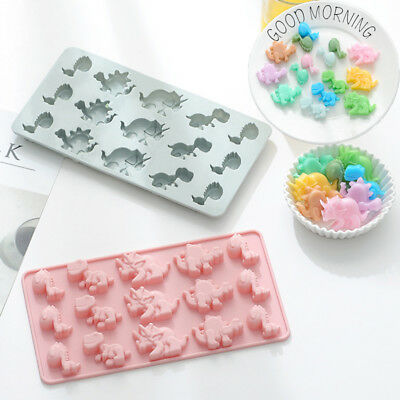 Dinosaur Cake Jelly Cookies Fondant Mold Chocolate Baking Mould Tray Ice Cube