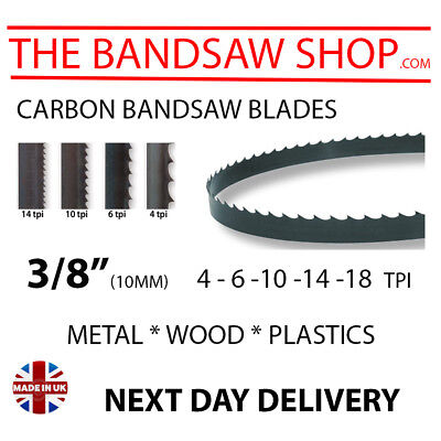 "3/8"" (10mm) Carbon Bandsaw blades made to any length"