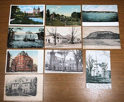 10 Antique Vintage Connecticut Postcard PC Collection Hartford New Haven