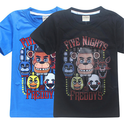 New Fnaf Kids Boys Girls Five Nights at Freddy's T-Shirts Tops Gift