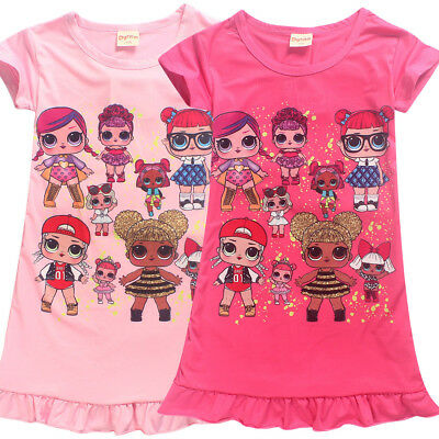lol surprise dolls Game Girls Dresses Nightwear Nightdress Pyjamas Skirts party