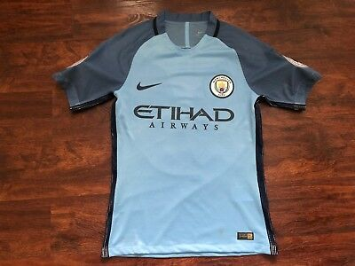 official photos 52645 bad55 NIKE MANCHESTER CITY Vapor UCL 2016/17 #33 G Jesus Jersey Shirt Size Small