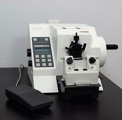 Microm HM355 Rotary Motorized Microtome w/ Foot Switch Permanent Knife Holder