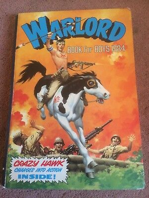 Warlord Book for Boys Annual 1984 Unprice Clipped At 1.95