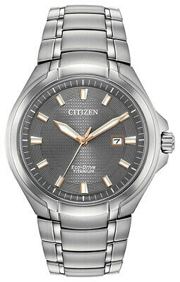 Citizen Eco-Drive Men's Paradigm Titanium Silver Tone 42mm Watch BM7431-51H