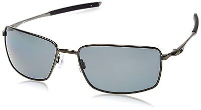 ef35bb0919 New Authentic OAKLEY SQUARE WIRE OO4075-04 Carbon Grey Polarized Sunglasses