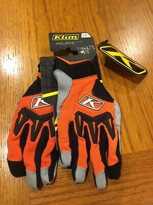 Klim Mojave Glove, Vented, Orange, Large, New