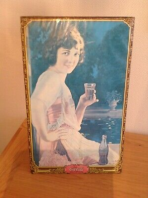 Rare Original 1920'S-30'S  Coca Cola Tin Lithograph Advertising Sign