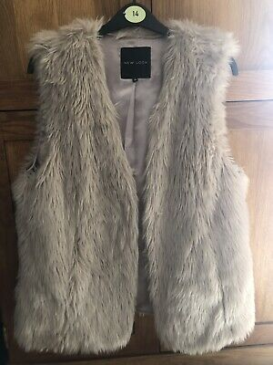 New Look faux fur gilet Size 14