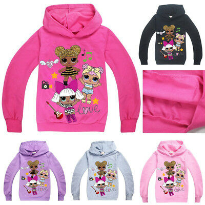 New LoL Surprise Dolls Kids Boys Girls Clothes Hoodies Sweatshirts Casual Tops