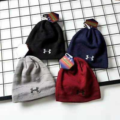 New Street Beanie Under Armour Logo Cap Mens Hiking Cuffed Knit Stretch Hat Gift