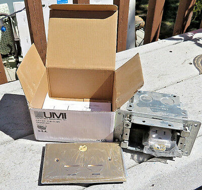 Orbit Electric Flb-D-Br Complete Floor Box / Brass Cover Plate Nib