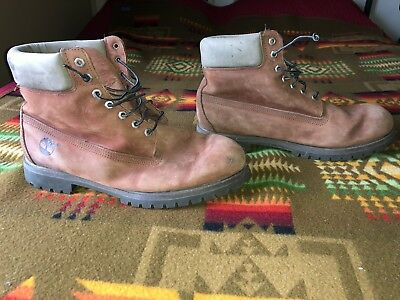 mens 13 M vintage Timberland brown leather ankle work boots 15013