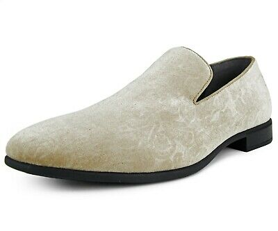 bd7d99411007 Bolano Mens Taupe Paisley Velvet Chinese Smoking Slipper Dress Shoe   Prince-008