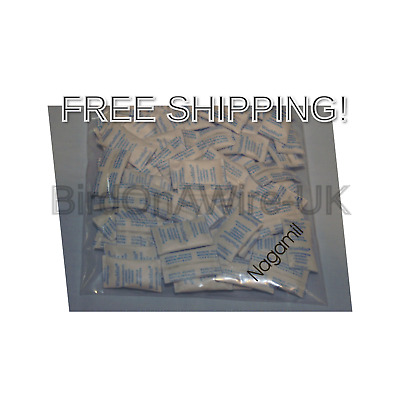 100 x Silica Gel Bag 1g, Desiccant, Packed Dust, Re-Usable