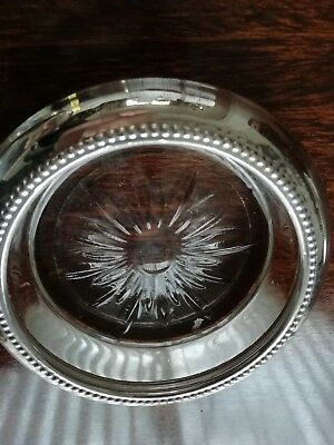 3 x sterling silver and glass dishes